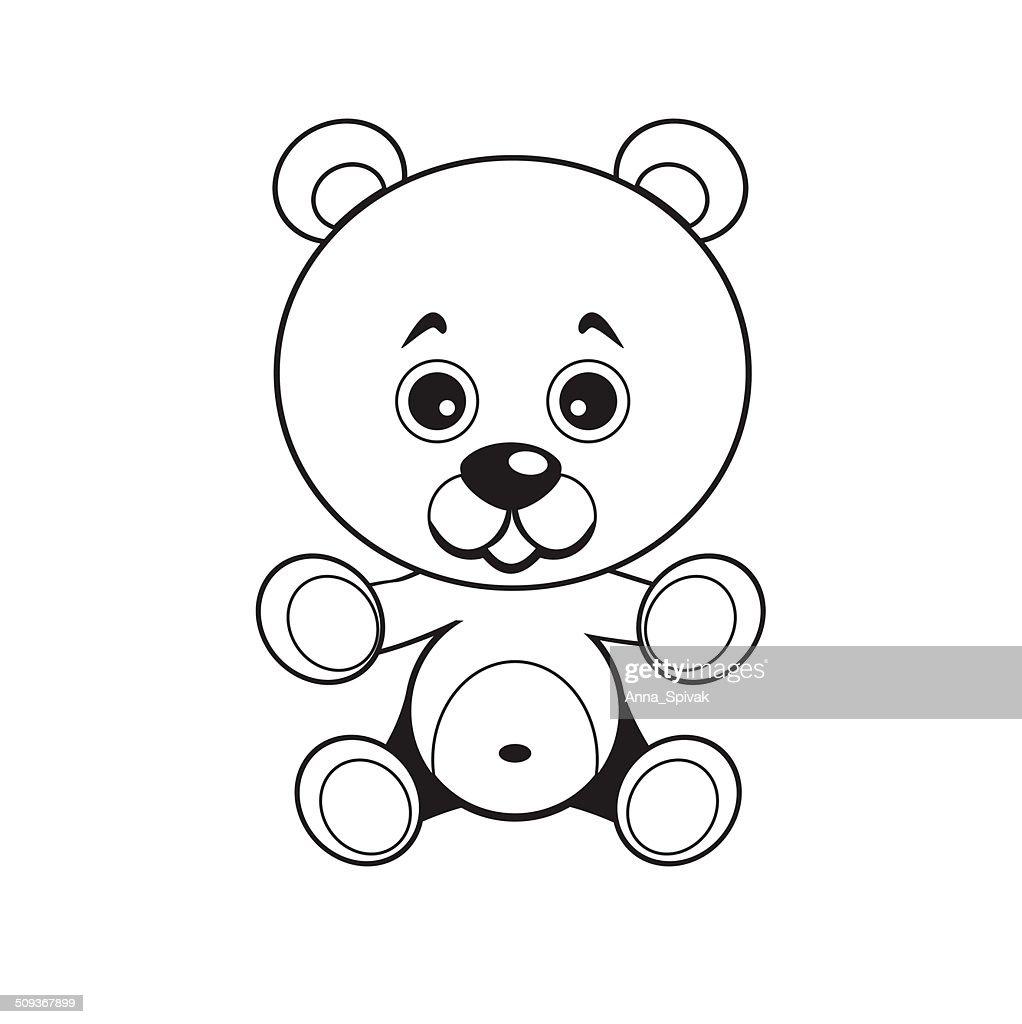 Bear. Vector image.