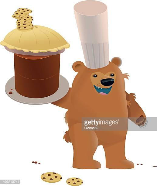 クマ、焼き菓子