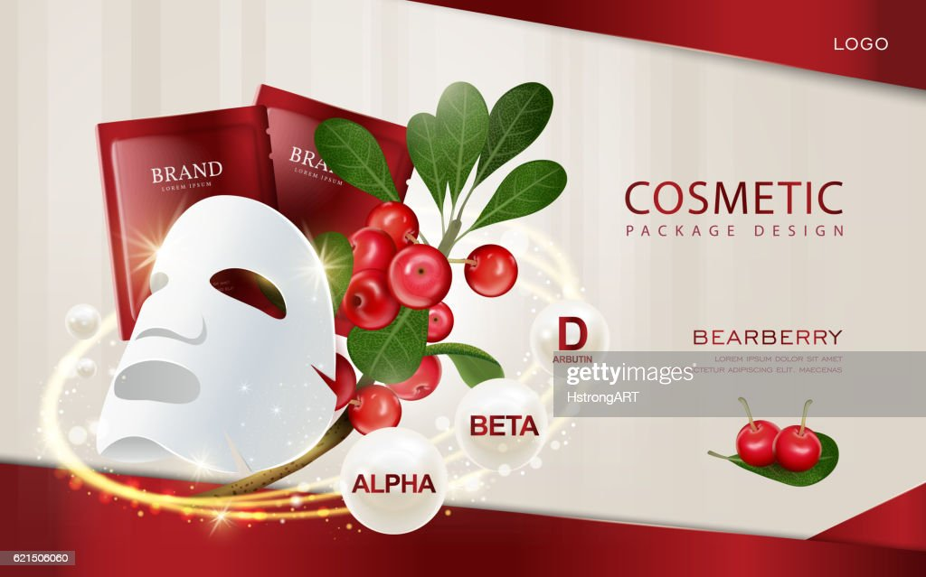 Bearberry cosmetic ads template