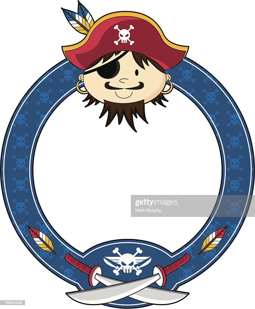 Bearded Pirate Captain Frame Vector Art | Getty Images