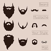 Beards and Mustaches set