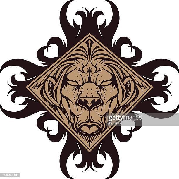 beast symbol - werewolf stock illustrations, clip art, cartoons, & icons