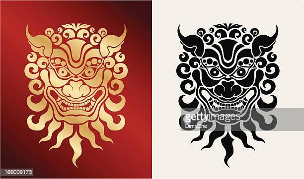beast (oriental style) - thailand stock illustrations, clip art, cartoons, & icons