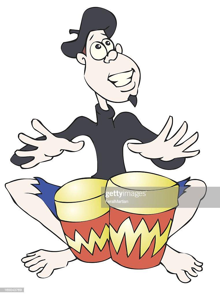 Beatnik Bongo : stock illustration