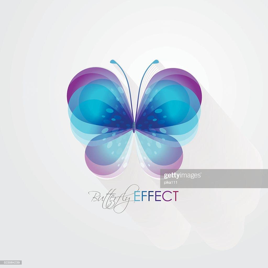 beautiful abstract vivid butterfly vector illustration