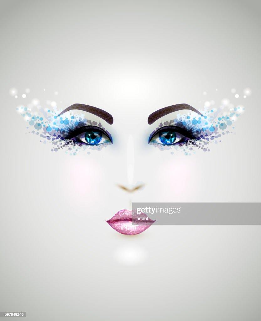 Beautiful abstract women