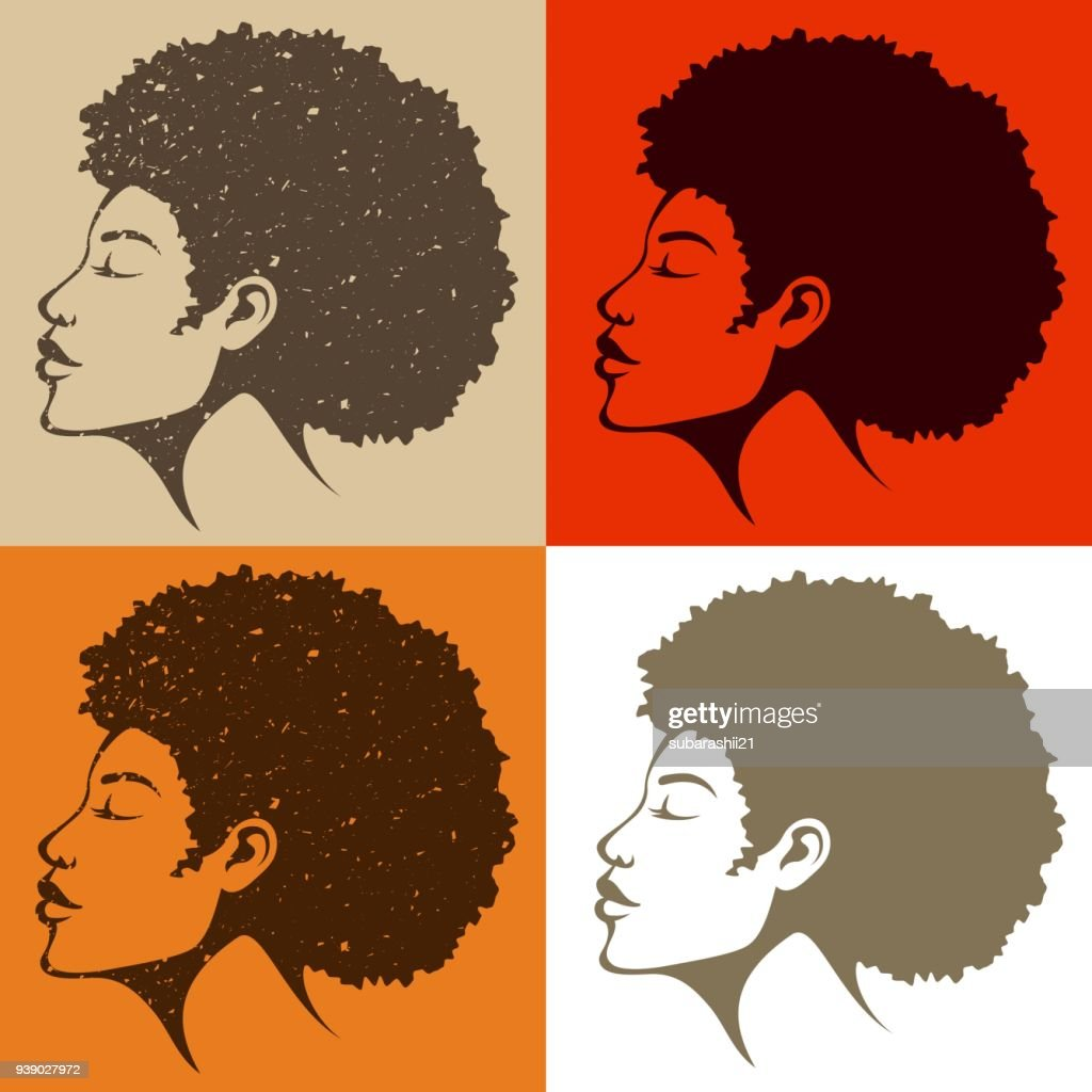 beautiful African American woman with natural hair
