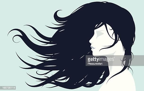 30 Meilleurs Cheveux Longs Illustrations Cliparts Dessins Animes