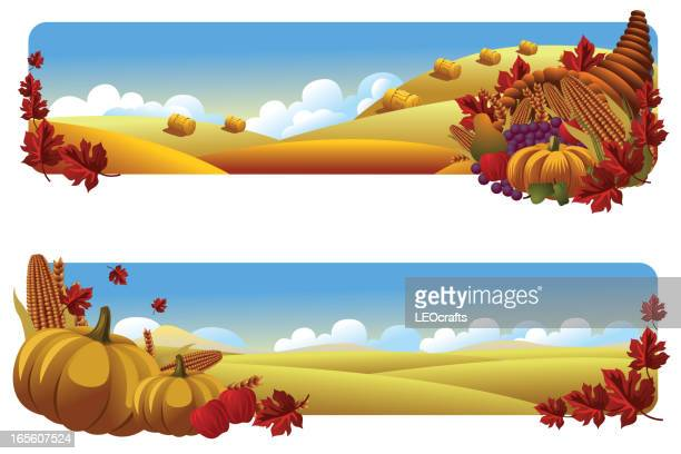 beautiful autumn background/banners - harvesting stock illustrations
