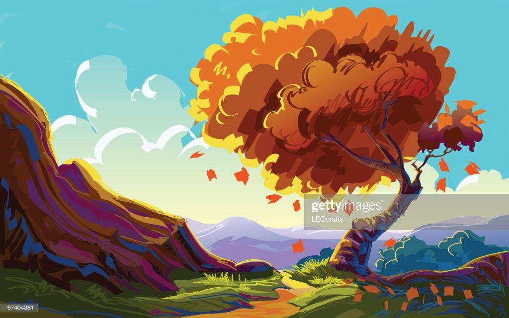 Beautiful Autumn Landscape : stock illustration
