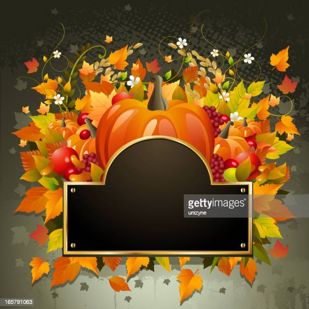 beautiful autumn/thanks giving background - zea stock illustrations, clip art, cartoons, & icons