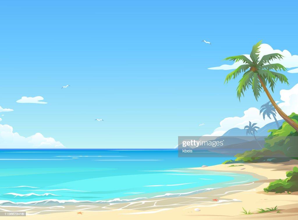 Beautiful Beach : Illustrazione stock