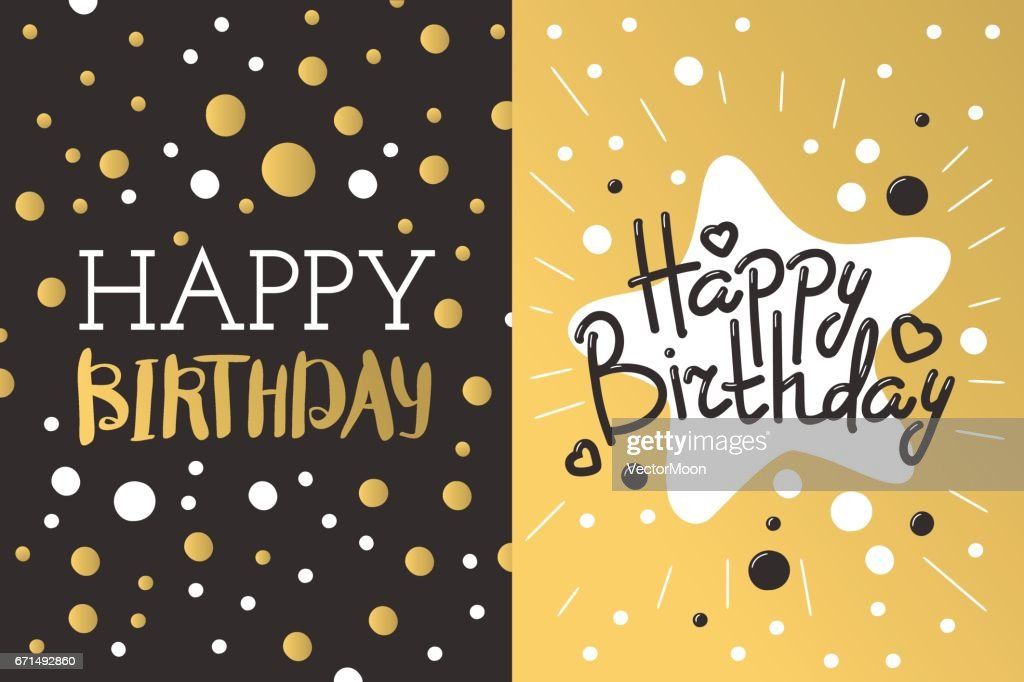 Beautiful birthday invitation card design gold and black colors beautiful birthday invitation card design gold and black colors vector greeting decoration vector art stopboris Image collections