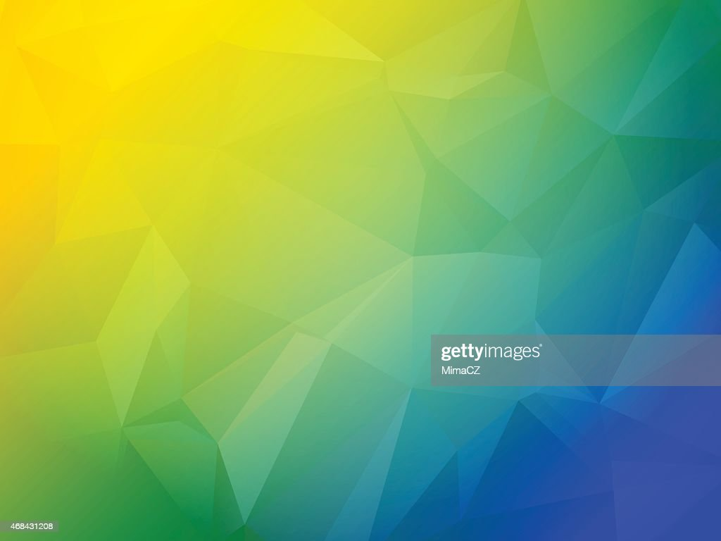 Beautiful blue green and yellow triangular background