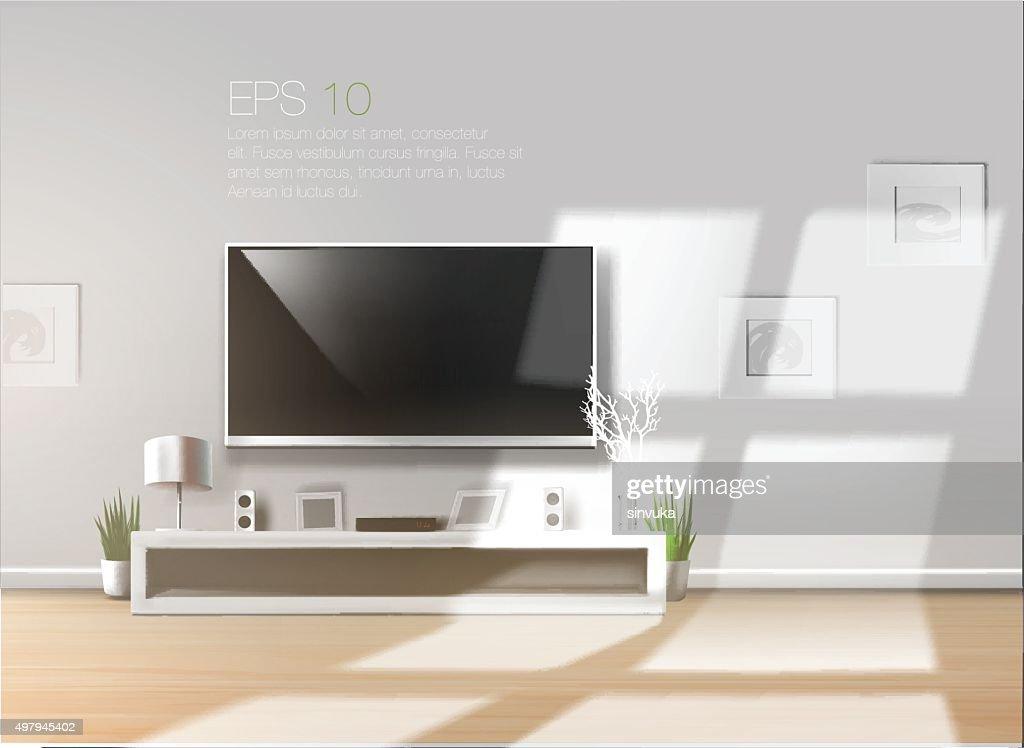 Beautiful bright vector room