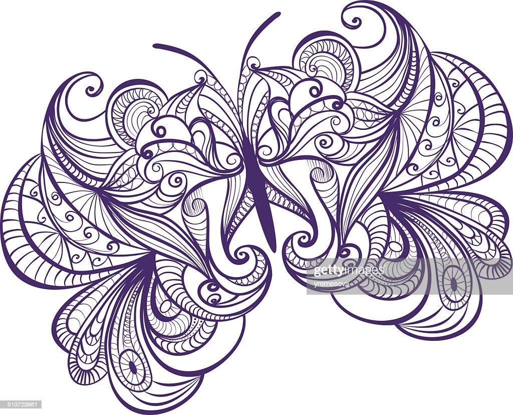 beautiful butterfly : stock illustration