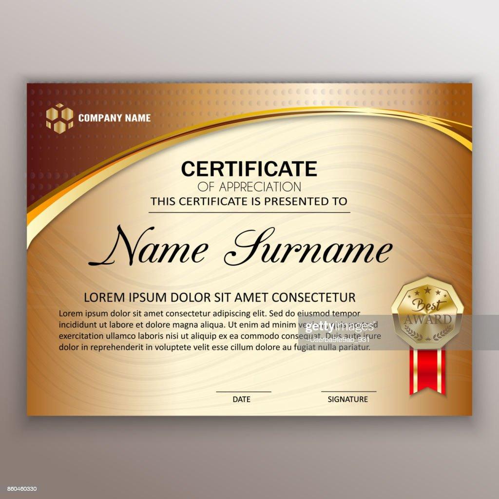 Schöne Zertifikat Vorlagendesign Mit Besten Preissymbol ...