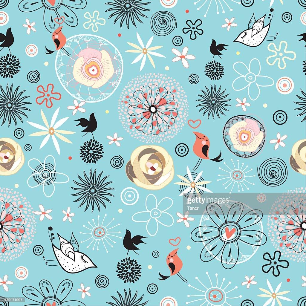 Beautiful designs of flowers and birds vector art getty images beautiful designs of flowers and birds vector art izmirmasajfo