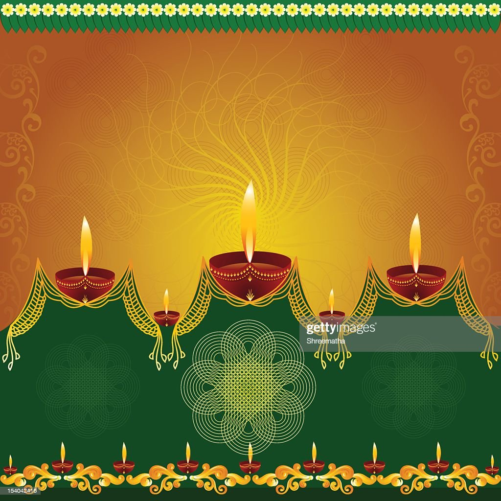 Beautiful Diwali Background.