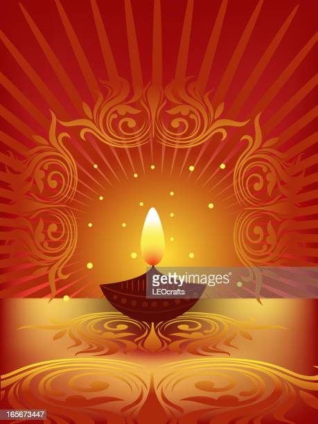 beautiful diwali background - hinduism stock illustrations