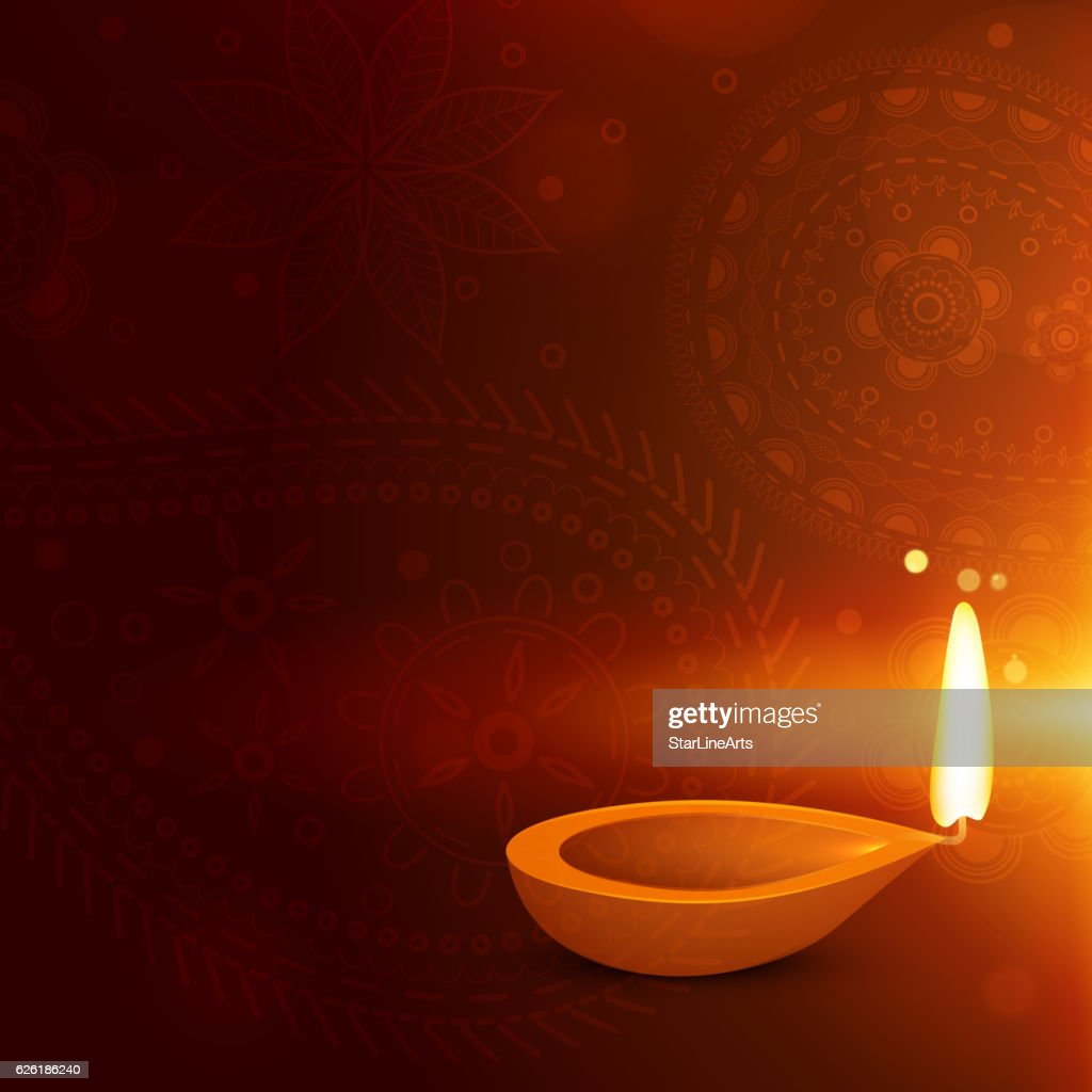 Beautiful Diwali Background With Diya Diwali Greeting Vector Art
