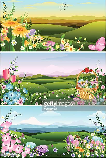 beautiful easter background - gerbera daisy stock illustrations, clip art, cartoons, & icons