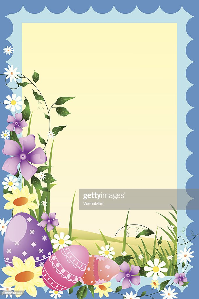Beautiful Easter Frame Vector Art | Getty Images