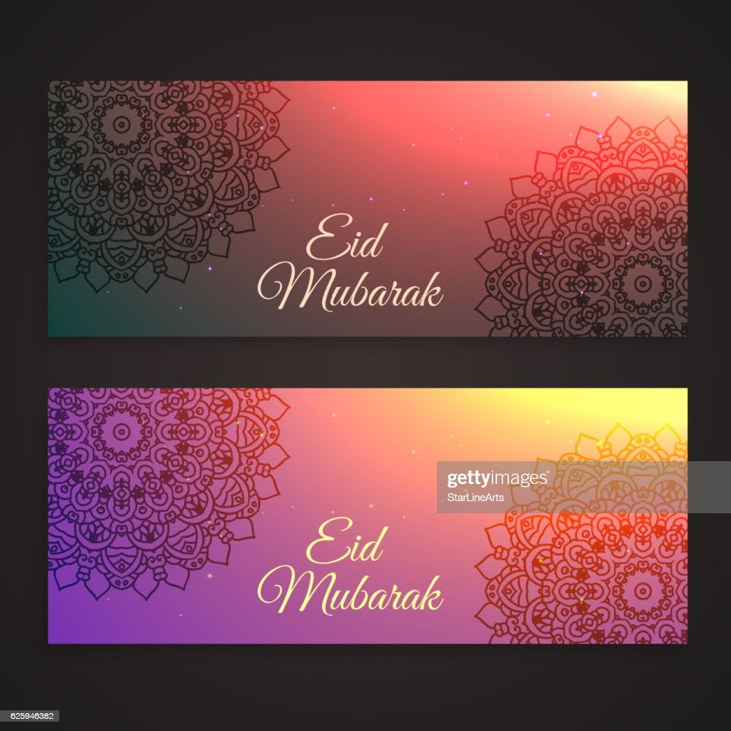 beautiful eid festival banners
