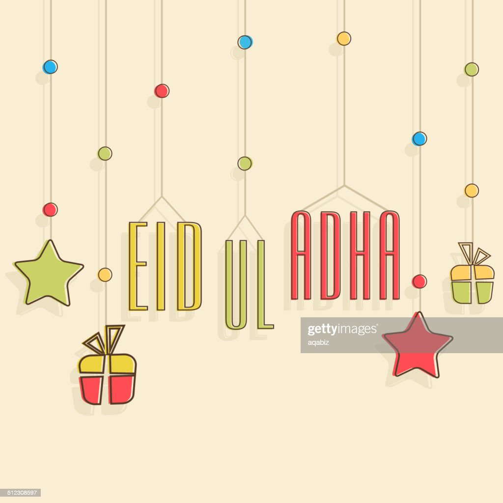 Beautiful Eid-Ul-Adha greeting card design.