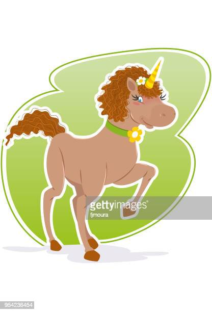beautiful enchanted unicorn - mare stock illustrations, clip art, cartoons, & icons