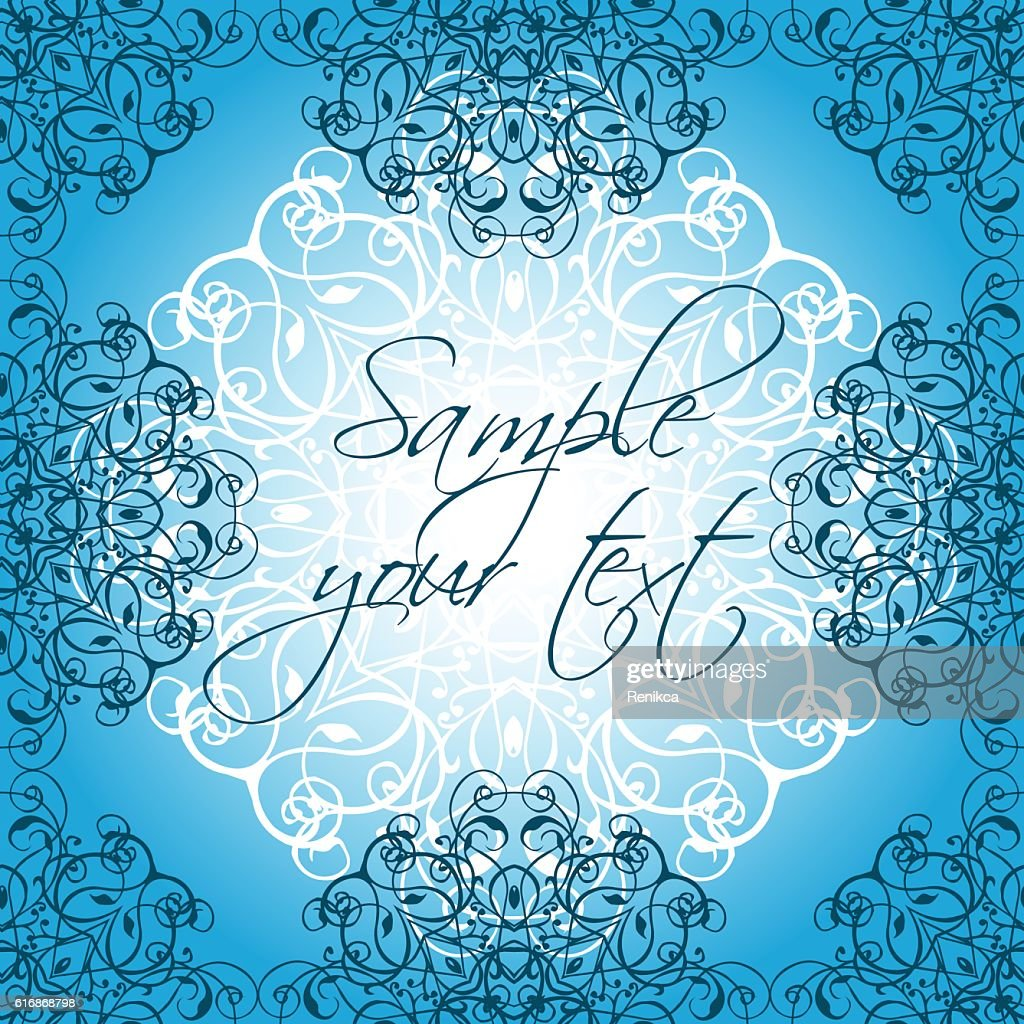 Beautiful ethnic ornament with place for text : Vector Art