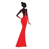 Beautiful fashion model  vector illustration.