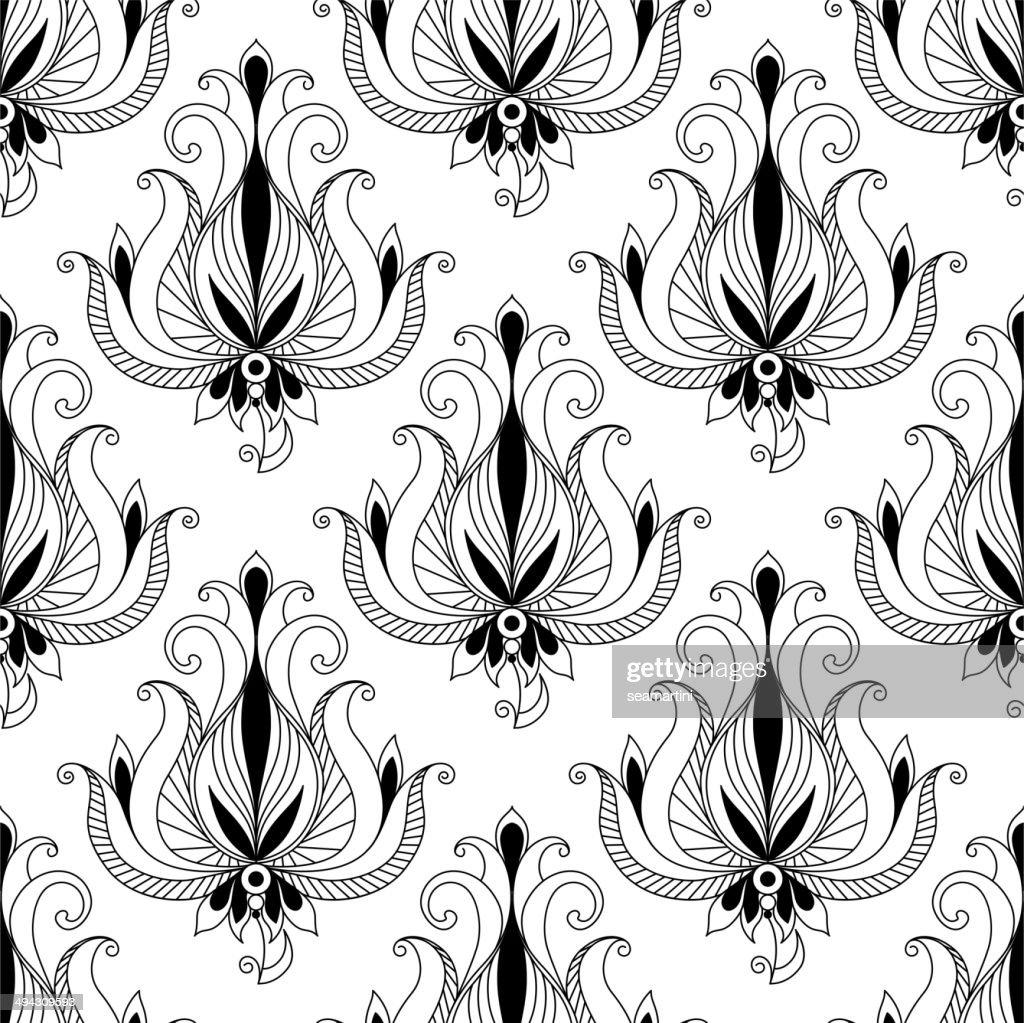 Beautiful floral arabesque seamless pattern
