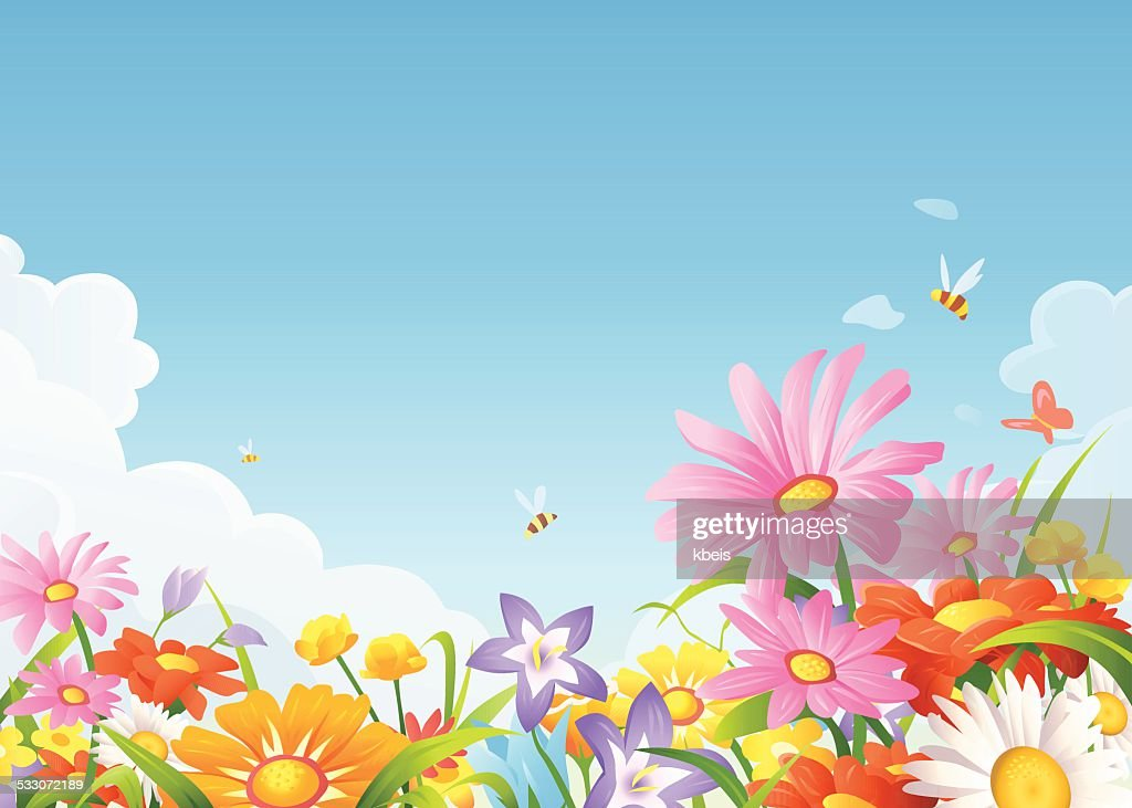 Beautiful Flowers On A Meadow