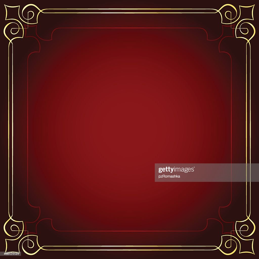 Beautiful frame on a red background