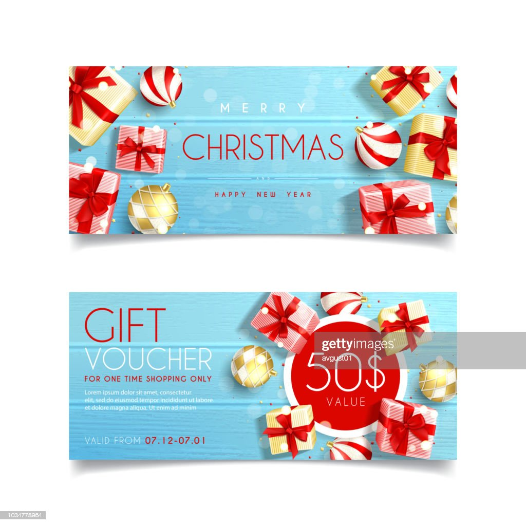 Beautiful gift voucher for Christmas