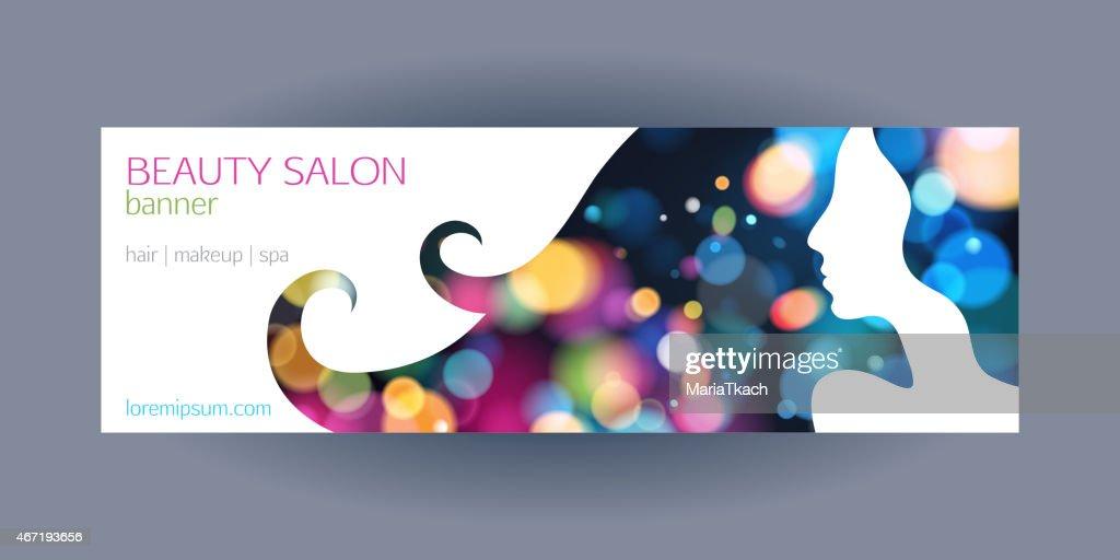 Beautiful girl spa salon banner template.