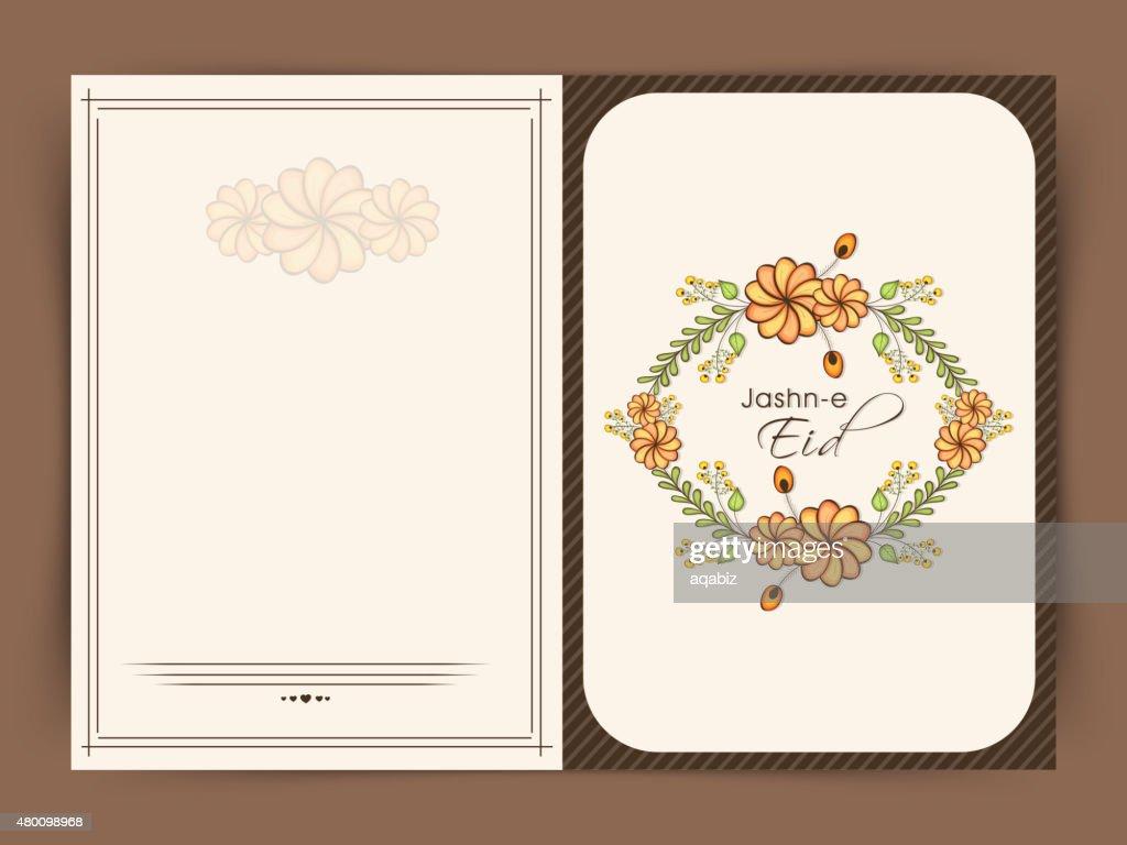 Beautiful greeting card for Jashn-e-Eid celebration.