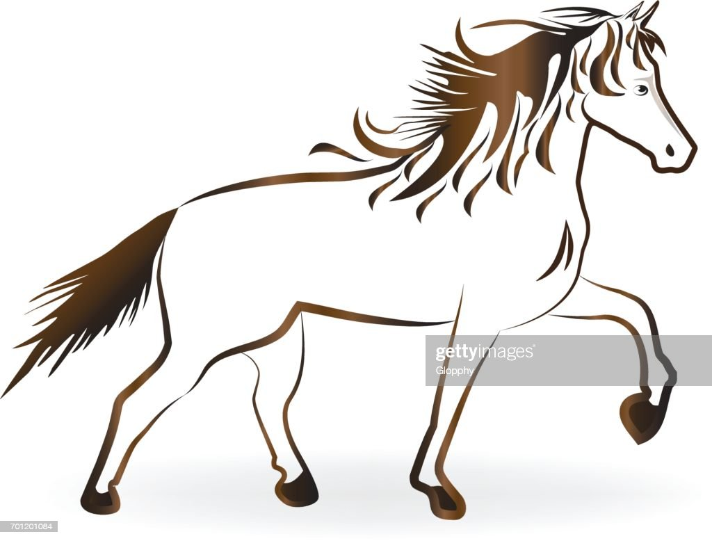 Beautiful horse icon vector
