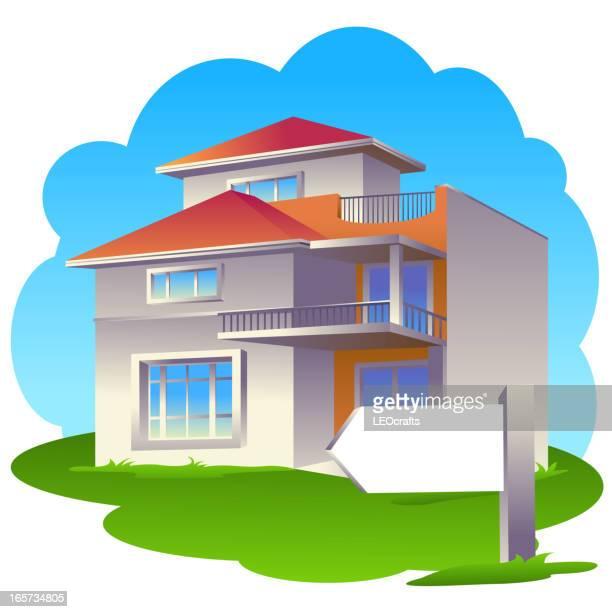 beautiful house - bungalow stock illustrations, clip art, cartoons, & icons