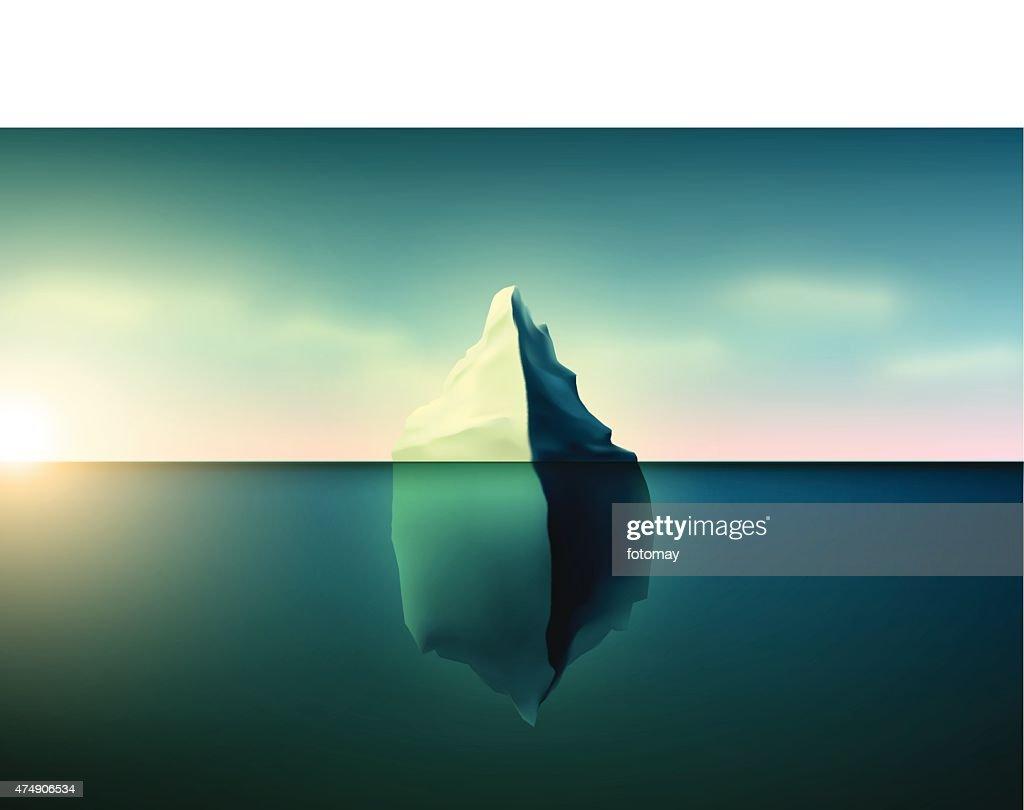 Beautiful Iceberg with sunset
