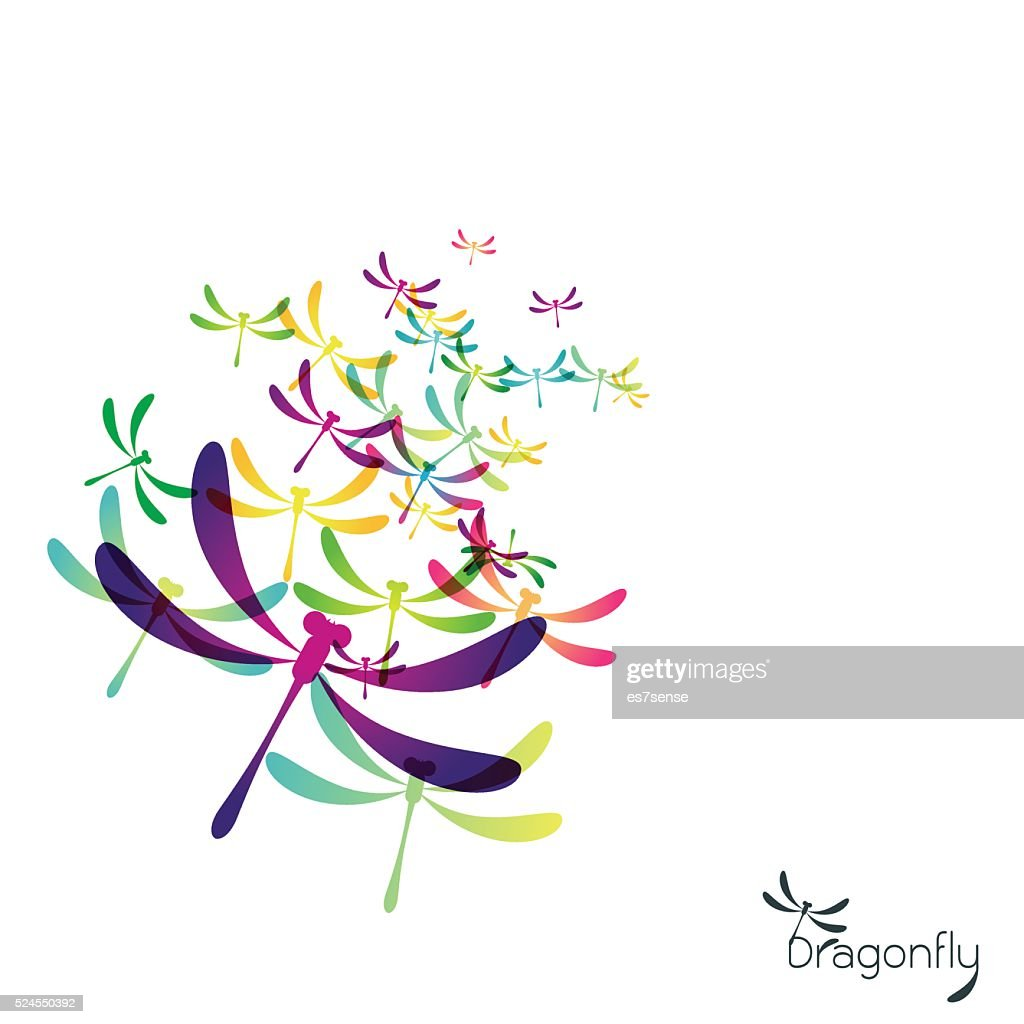 Beautiful icon dragonfly