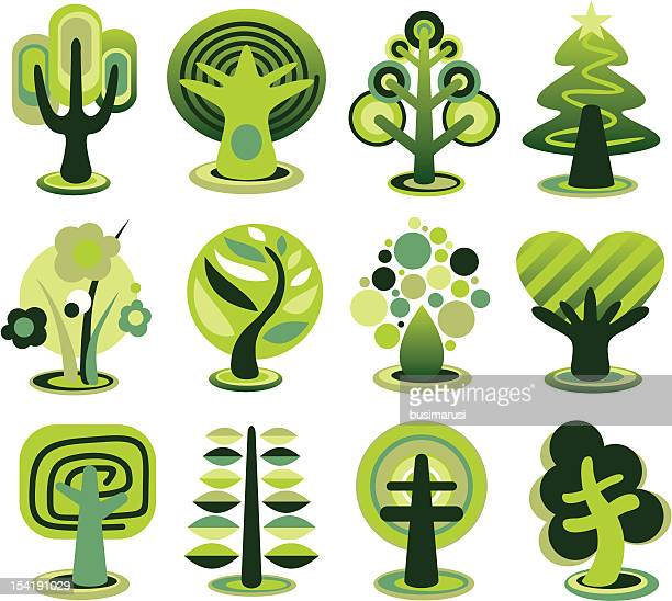 beautiful icons of trees