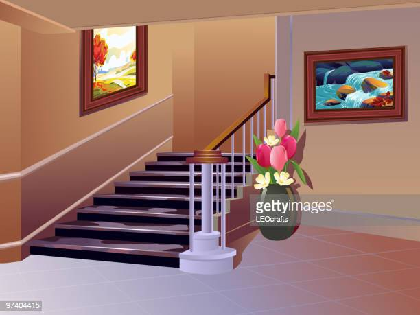 beautiful interior - corridor stock illustrations, clip art, cartoons, & icons