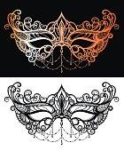 Beautiful lace masquerade mask