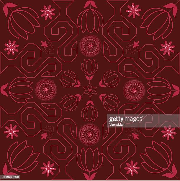 Beautiful Lotus Rangoli Design