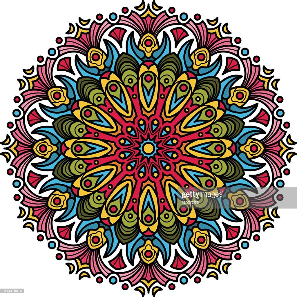 Beautiful Mandala Hindu symbol