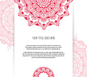 Beautiful Mandala leaflet template vector