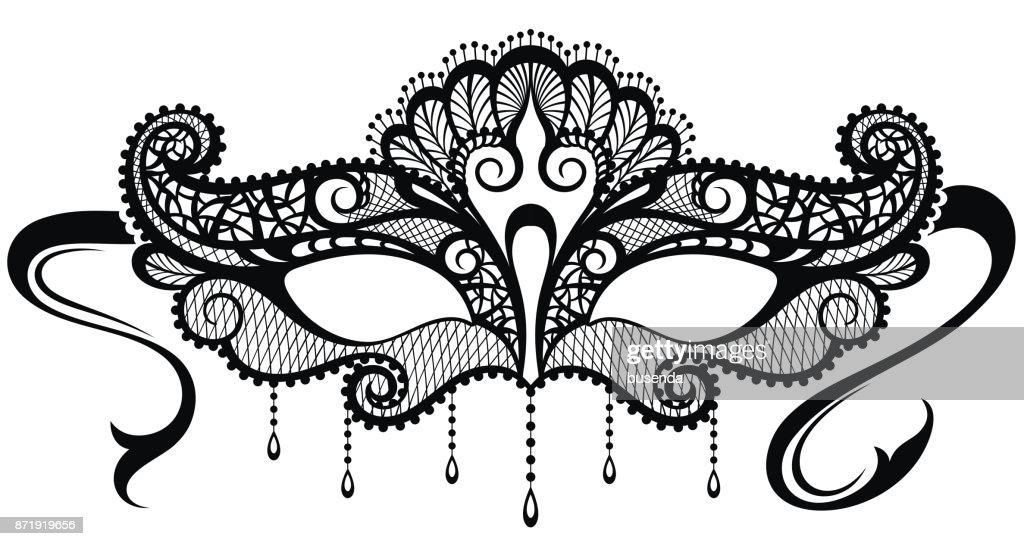 Beautiful mask of lace symbol