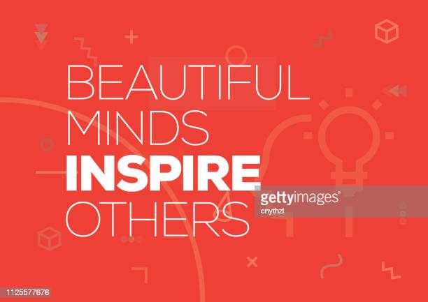 beautiful minds inspire others. inspiring creative motivation quote poster template. vector typography - illustration - sayings stock illustrations